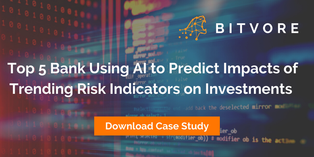 Bitvore case study top 5 bank using AI blog header 1024 x 512