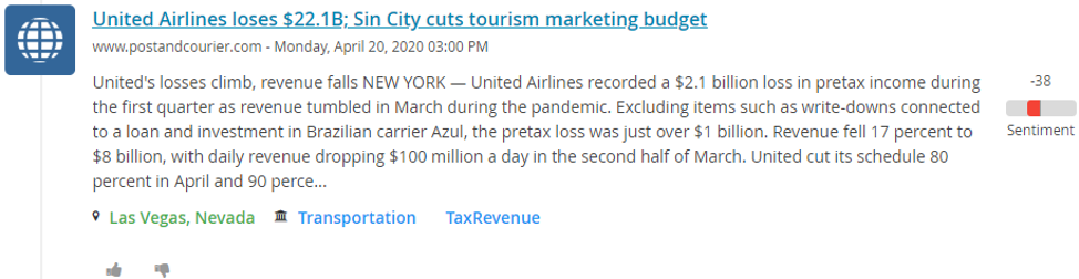 United Airlines Loses
